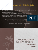 Social Dimension of Buddha's teaching