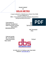 Project on Delhi Metro