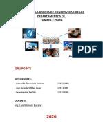 Grupo 1 - Informe brecha de conectividad de tumbes y piura