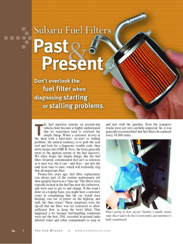 Subaru Fuel Filter Injection Pump