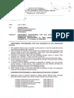 VPAA Office Memorandum Order No. 27, s. 2020