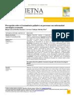 Rioja B, percepcion del cuidado paliativo. chiclayo, peru. 2018