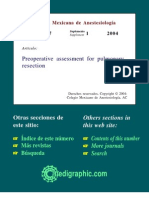 Preoperative Assessment for Pulmonary Resection