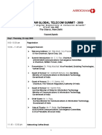 tentative Agenda telecom summit
