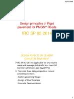 Principles of Rigid Pavement design