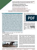 Performance Evaluation of a Developed Multipurpose Solar Dryer