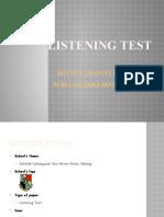 LISTENING TEST PRESENTATION