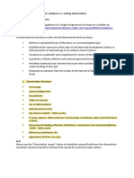 6. Guidance Re. Writing Dissertations
