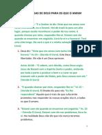 7 PROMESSAS DE DEUS PARA OS QUE O AMAM