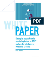 Employing Social Media Monitoring Tools as an Osint Platform for Intelligence Defence Security