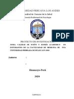 Calidad de Sueño y Estres Academico - 2020 Original 1 (1)