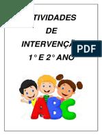 Atividade de intervenção 1º e 2º anos