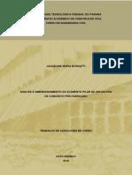 Análise e dimensionamento do elemento pilar de um galpão de concreto pré-fabricado