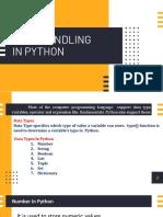 DATA HANDLING in python