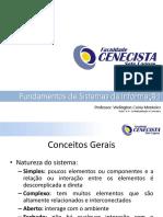 FCSL - FUNDAMENTOS DE SI - Aula 3 e  4 - Contextualização e Conceitos