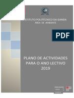 Plano de actividades para o aluno lectivo 2019