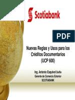 Nuevas Reglas de las Cartas de Credito - UCP 600