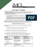 APA 7ª edição - resumo das alterações
