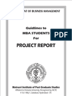 Project Guidelines Mba