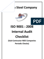 Audit Check List for NDE iss