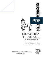 K. Tomaschewsky - Didáctica general-Grijalbo (1966)