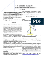 Informe de Laboratorio - Charpy Test