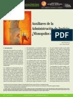 Torres y Velozo - Auxiliarios de la Adm de Justicia, Monopolios de privilegio