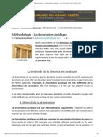 Méthodologie _ La dissertation juridique – Les Chevaliers des Grands Arrêts