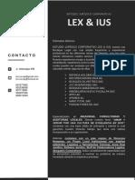CARTA PRESENTACION LEX & IUS