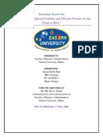 Internship Report On constructing optimal portfolio and efficient frontier.pdf