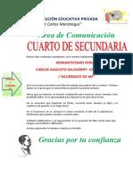 LITERATURA- UNIDAD 2 SEMANA 11 IDUKAY CUARTO