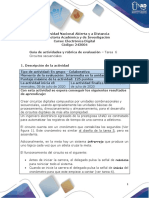 Guía de Actividades y Rúbrica de Evaluación - Tarea 6- Tarea Final