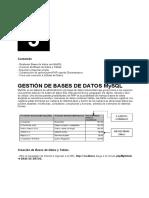 GESTIÓN DE BASES DE DATOS MySQL - PHP