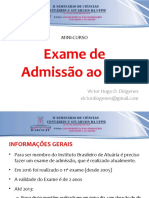 Exame de Admissão ao IBA