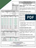 TTSE Weekly Bulletin 14.01.11