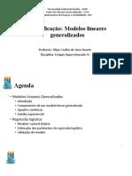 Classificação - Modelos Lineares Generalizados