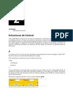 Estructuras de Control - PHP