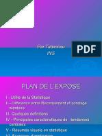 NOTIONS DE STATISTIQUE_MASTER_UNIVERSITE DE DSCHANG