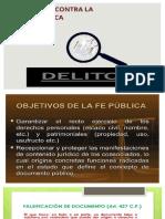 12 DELITOS CONTRA LA FE PUBLICA