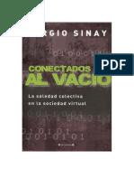 Sinay Sergio Conectados Al Vacio PDF