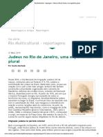 Rio Multicultural - reportagens - Judeus no Rio de Janeiro, uma experiência plural