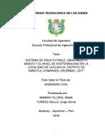 Tesis - Sistema de agua potable, saneamiento básico y el nivel de sostenibilidad en la localidad de laccaicca, distrito de Sañayca, Aymaraes - Apurímac, 2017.docx