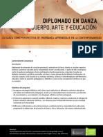 Diplomado de Extension en Danza Cuerpo Arte y Educacion La Danza Como Perspectiva de Ensenanza Aprendizaje en La Contemporaneidad PDF 728 Kb