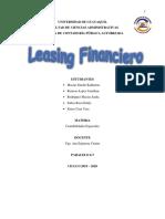 TIPOS DE CREDITOS BANCARIOS - LEASING FINANCIERO