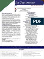 Boletim Geocorrente 43 - 21 OUT 2016