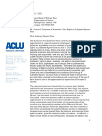 ACLU Letter to Barr