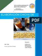 Proyecto Integrador elaboración de chicha de jora