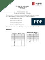 Taller 3 - PDM y Ruta Critica (Codigo IMPAR)