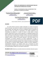 APROXIMACIÓN A UN MODELO DE GOBERNANZA EN UNIVERSIDADES PUBLICAS