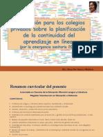 Presentación Pptx Sobre Continuidad Aprendizaje en Línea